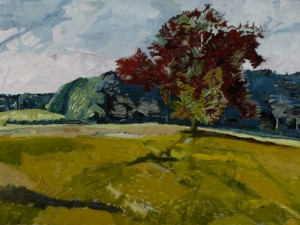 Westbury, Big Red Tree¤8 in x 36 in aOil on canvas, 2006