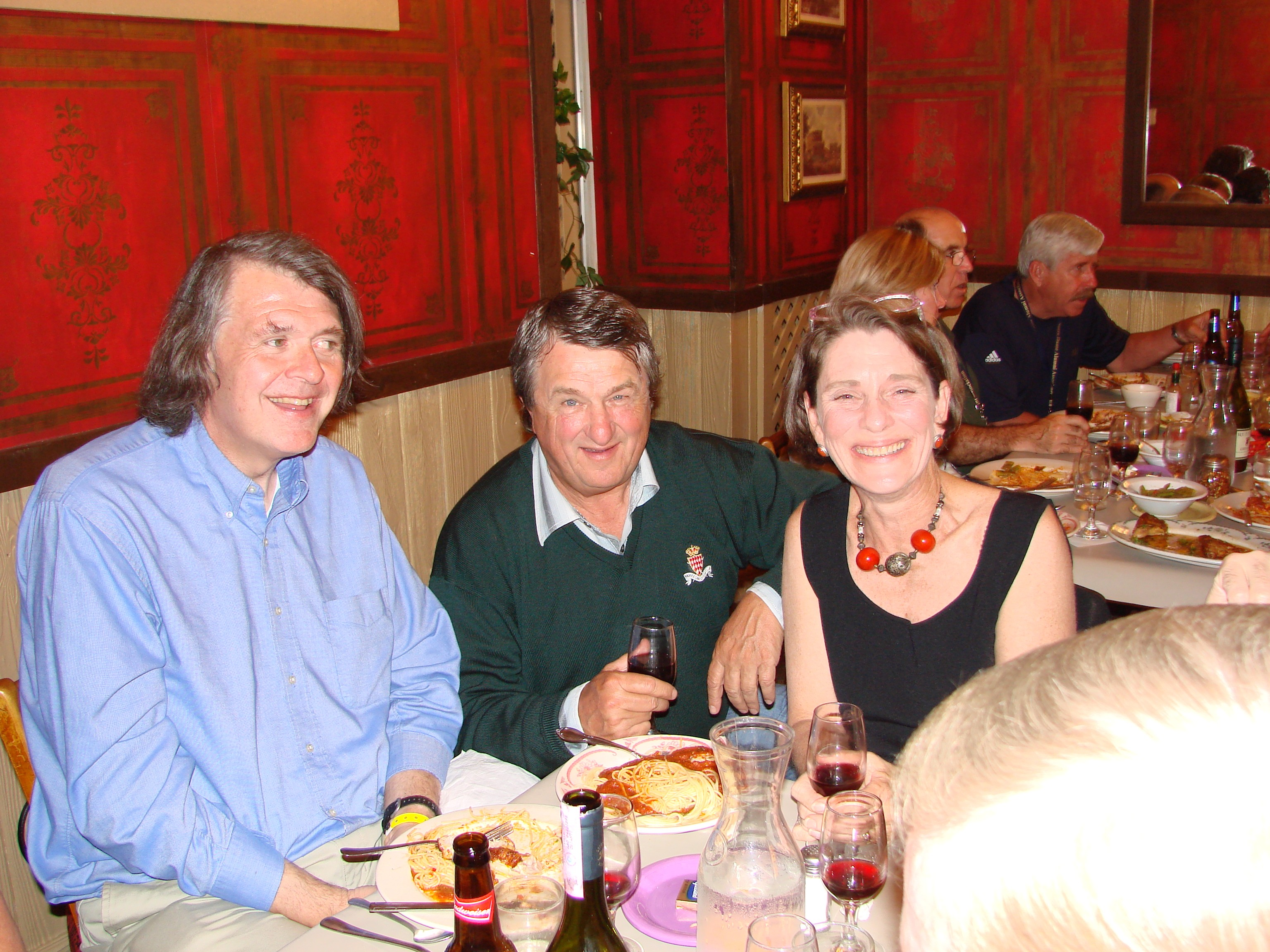 Dennis Gallagher, Mike Browning, Elise Reeder at Sunny Italy